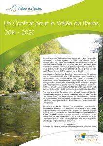 Plaquette Contrat de rivière du Doubs