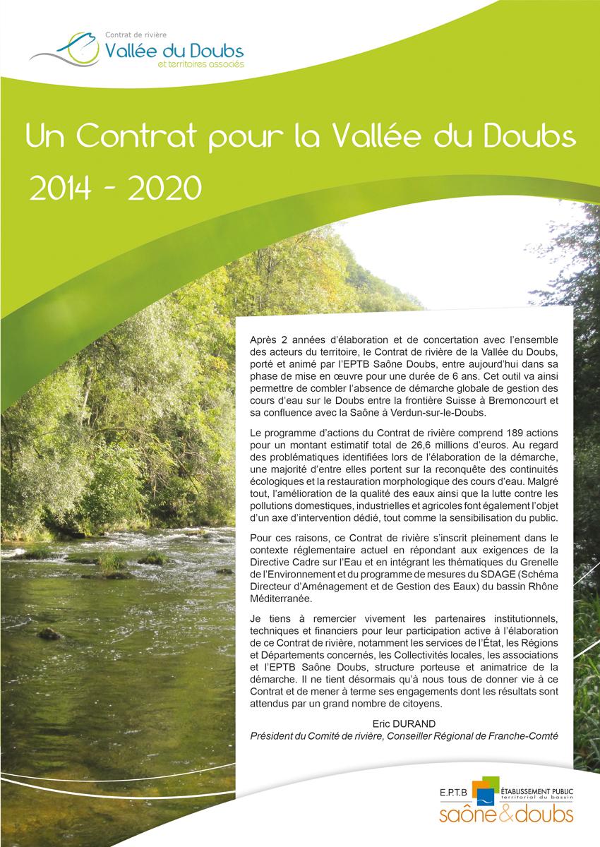 Plaquette Contrat Doubs