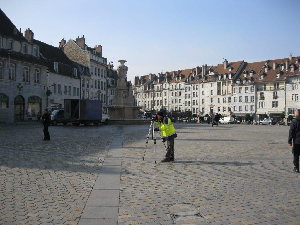 Levés topographiques à Besançon