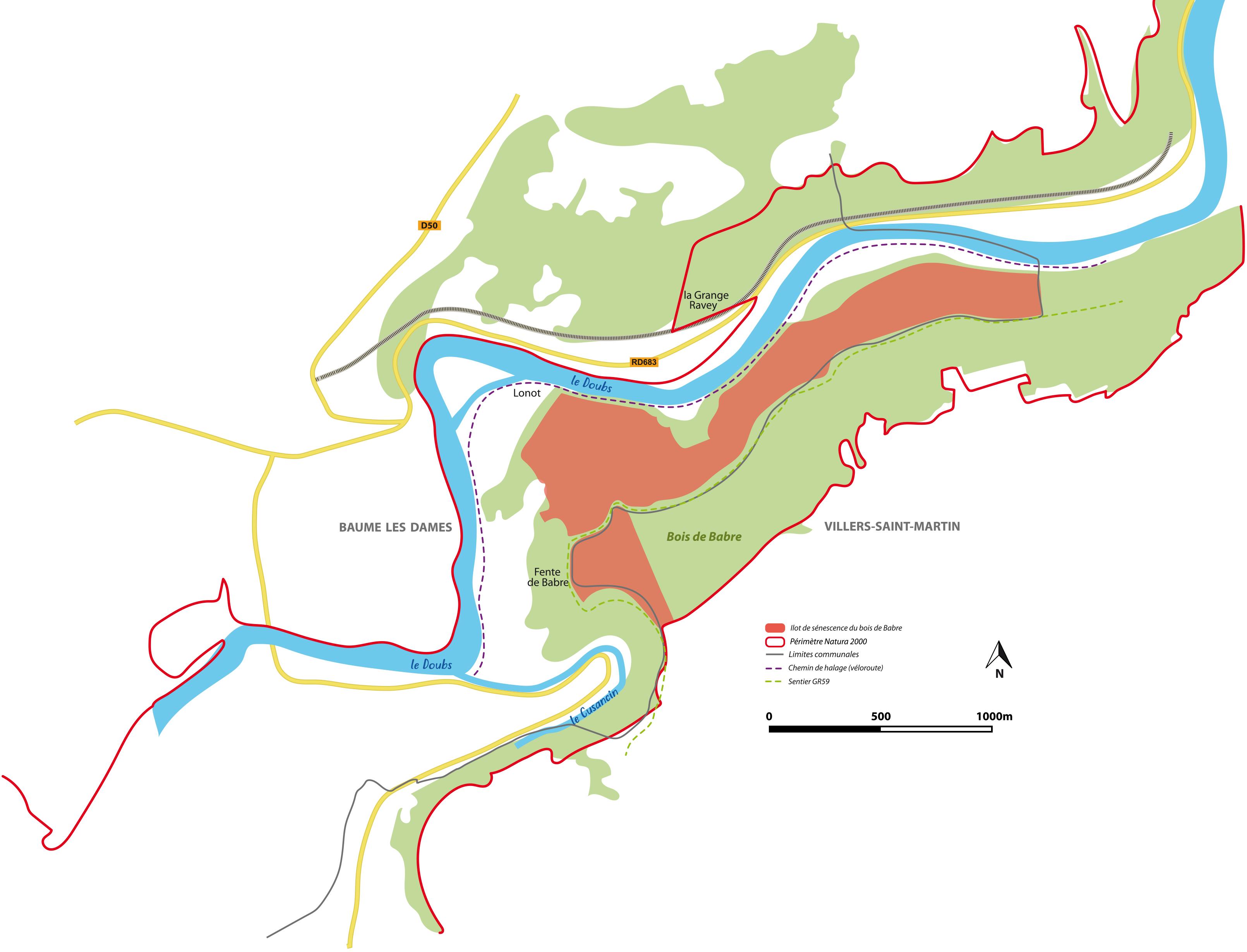 Bois de Babre / plan situation