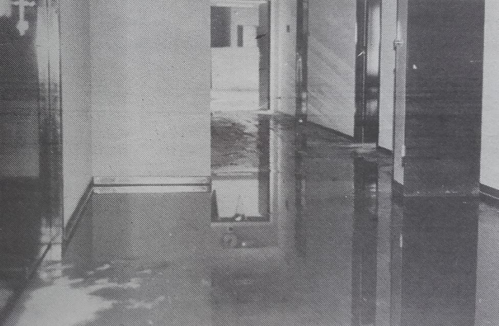 Collège de Valdoie inondé en1990