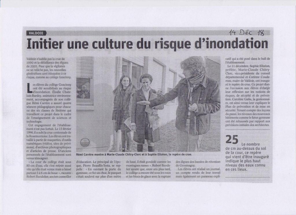 """Appel à projet """"Culture du risque"""" en 2018"""