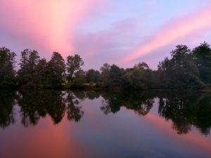 Crépuscule sur la Saône